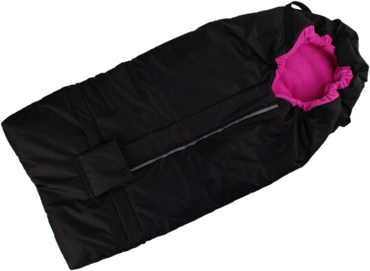 Fusak èerno-rùžový s fleece podšívkou