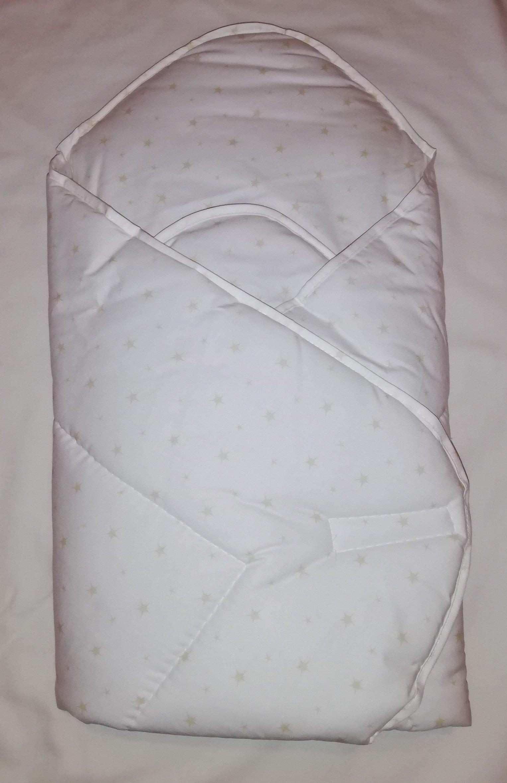 Zavinovaèka s výztuží Béžové hvìzdièky na bílé bavlnì