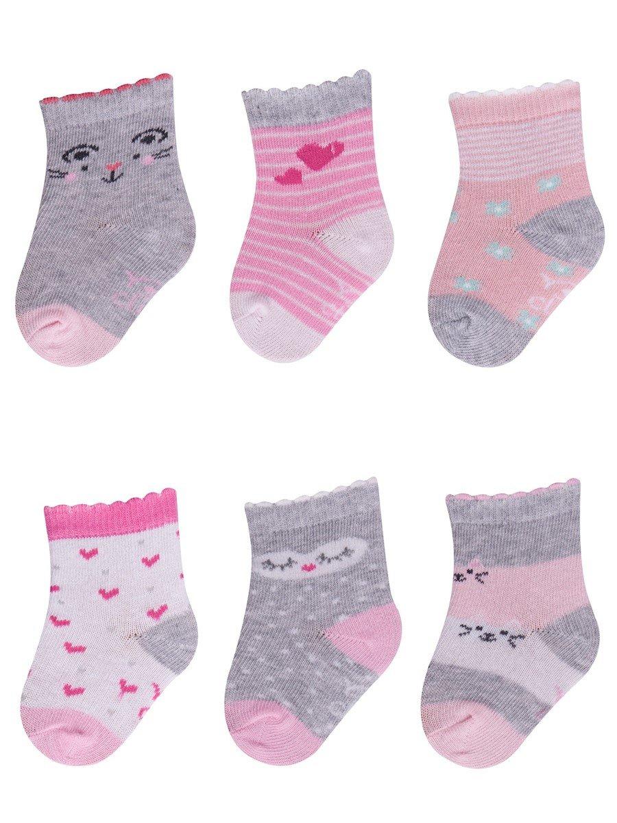 Ponožky kojenecké vzorované 0-3 m holka