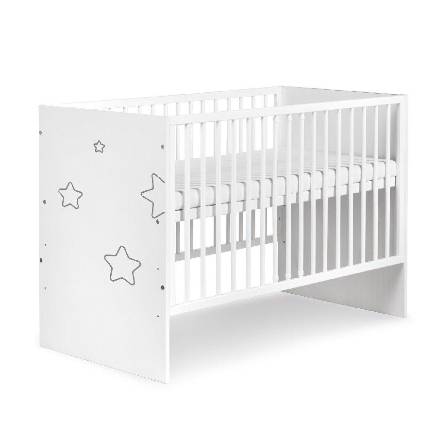 Dìtská postýlka TINO STARS 120x60 cm bílá