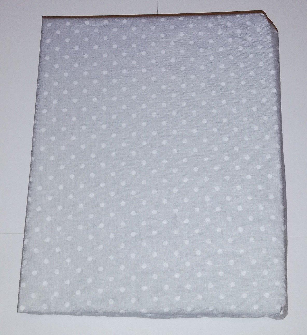 Bavlnìné prostìradlo 120x60 cm šedé s bílými vìtšími puntíky