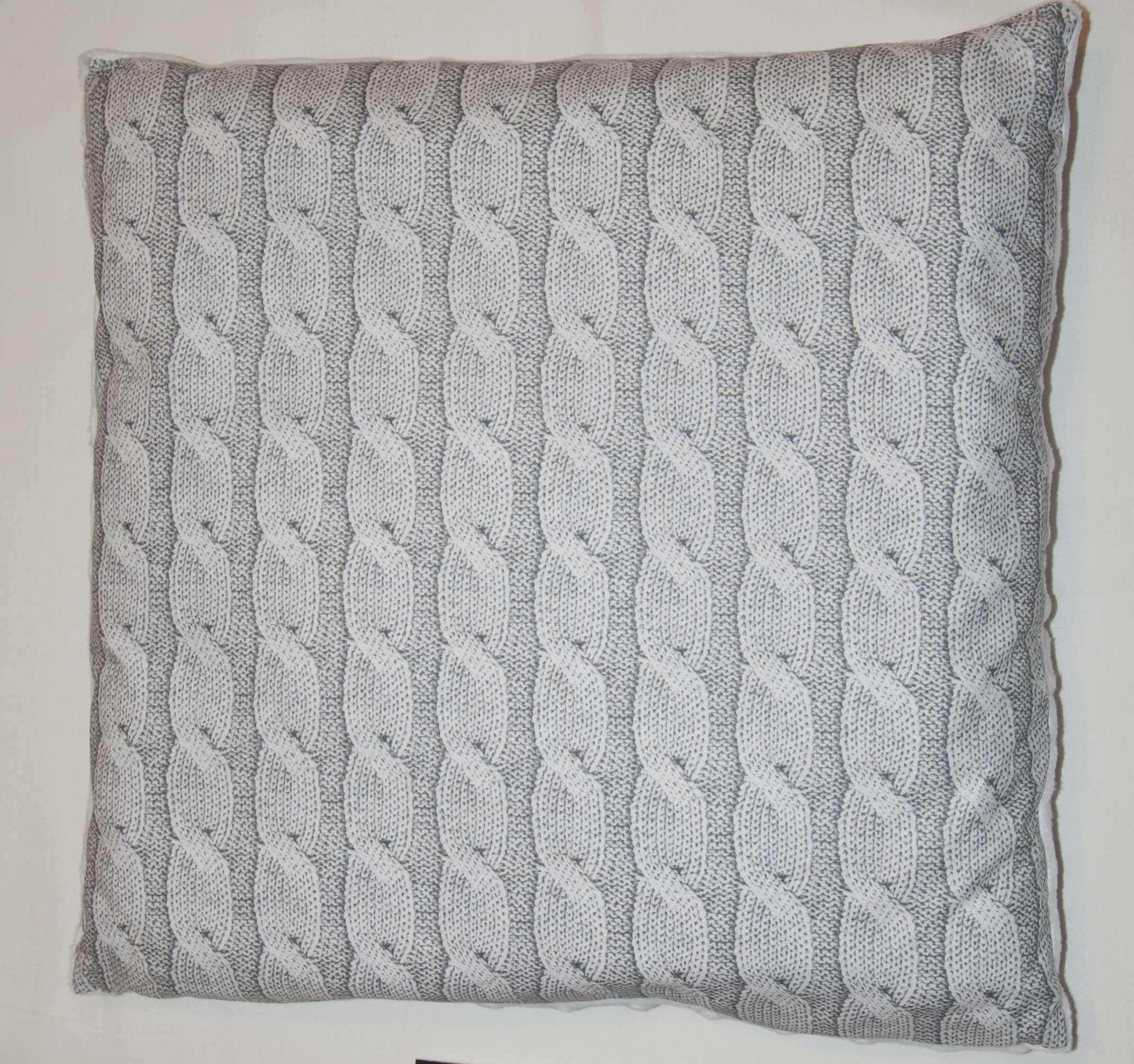 Dìtský polštáø bavlna + minky 40x40 cm jeans šedá