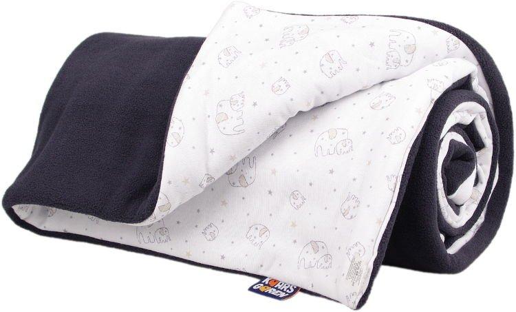 Zateplená dìtská deka šedá sloník