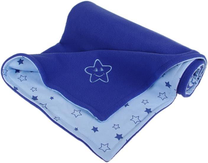 Dìtská deka modrá hvìzdièka fleece bavlna