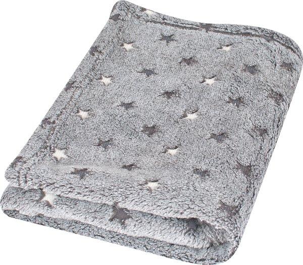Dìtská deka MILLY z mikrovlákna 75X100 cm šedé hvìzdy