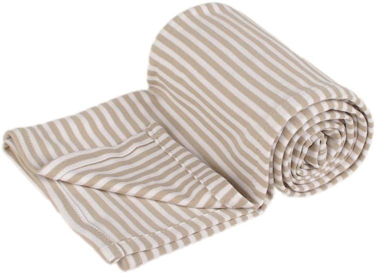 Letní deka 150x200cm béžové proužky