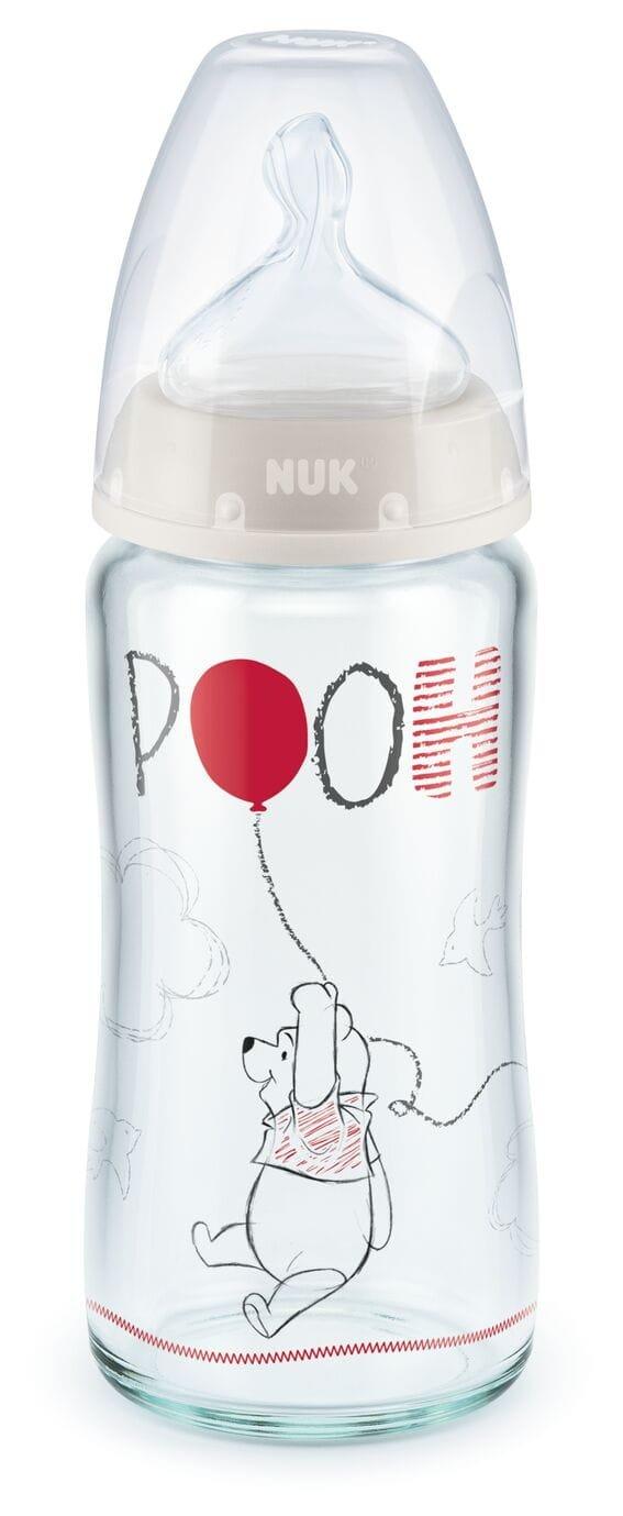 Kojenecká láhev sklenìná FC+ 240 ml medvídek Pú