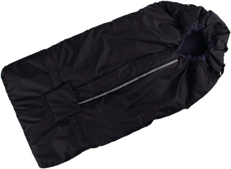 Fusak èerno-šedý s fleece podšívkou