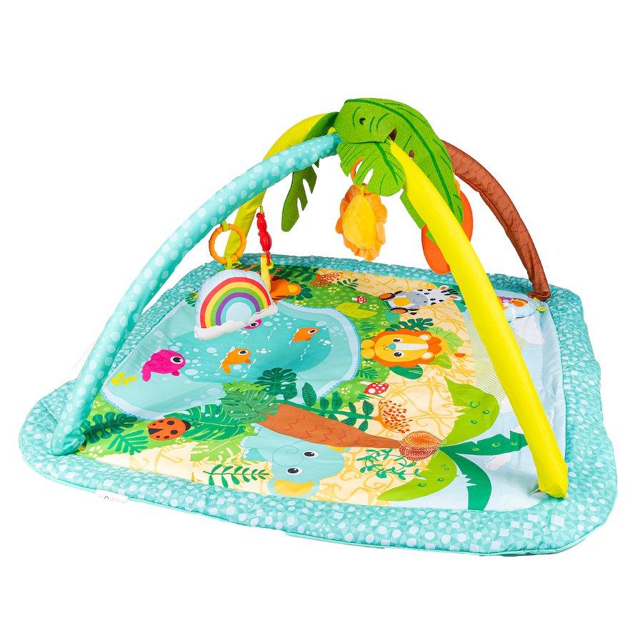 Dìtská hrací deka džungle tyrkysová