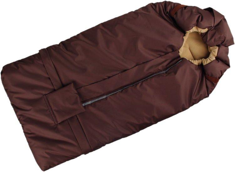 Fusak hnìdo-béžový s fleece podšívkou