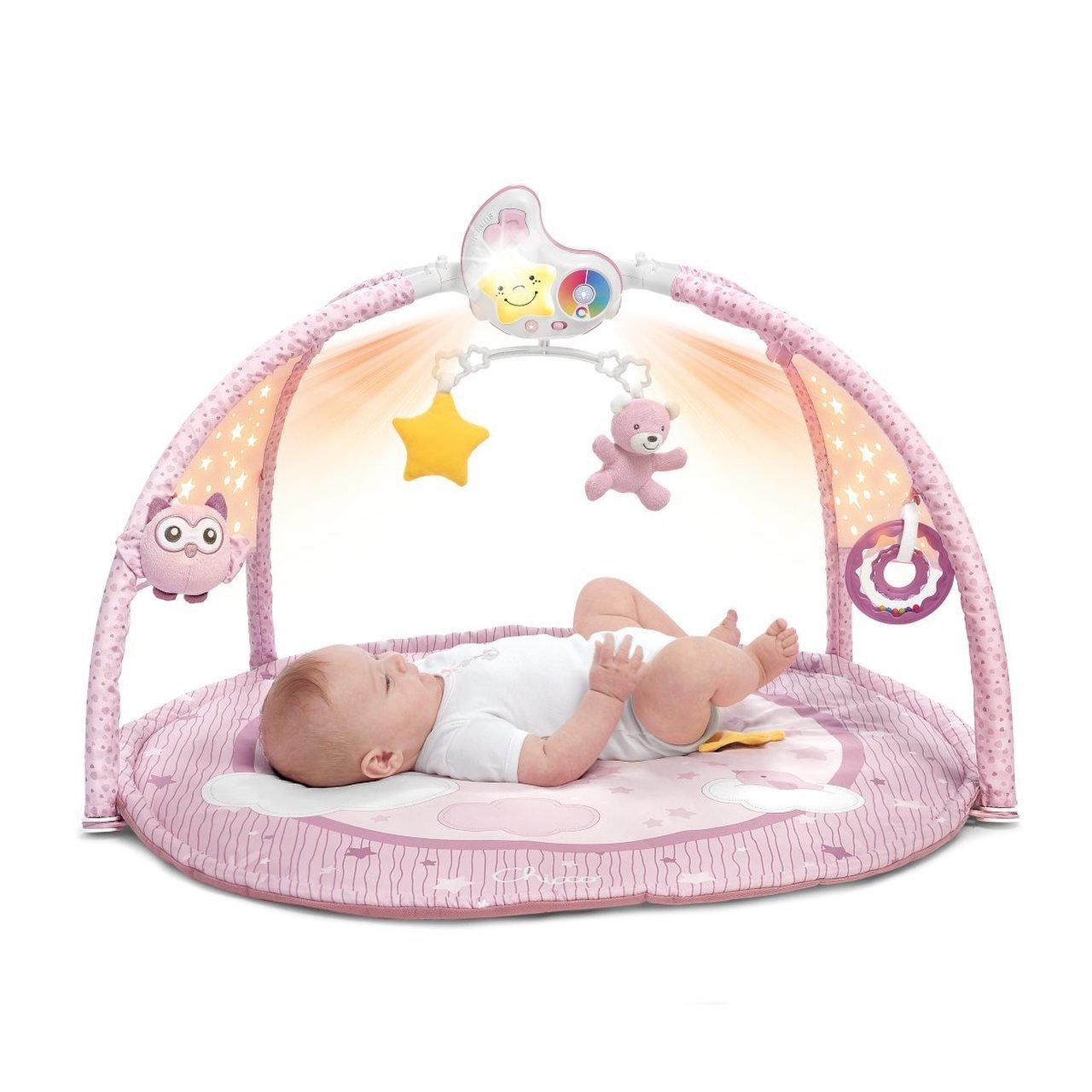 Hrací deka pro miminka 3v1 rùžová