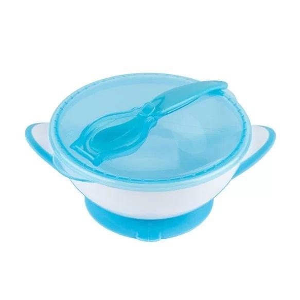 Miska s pøísavkou a lžièkou pro dìti modrá