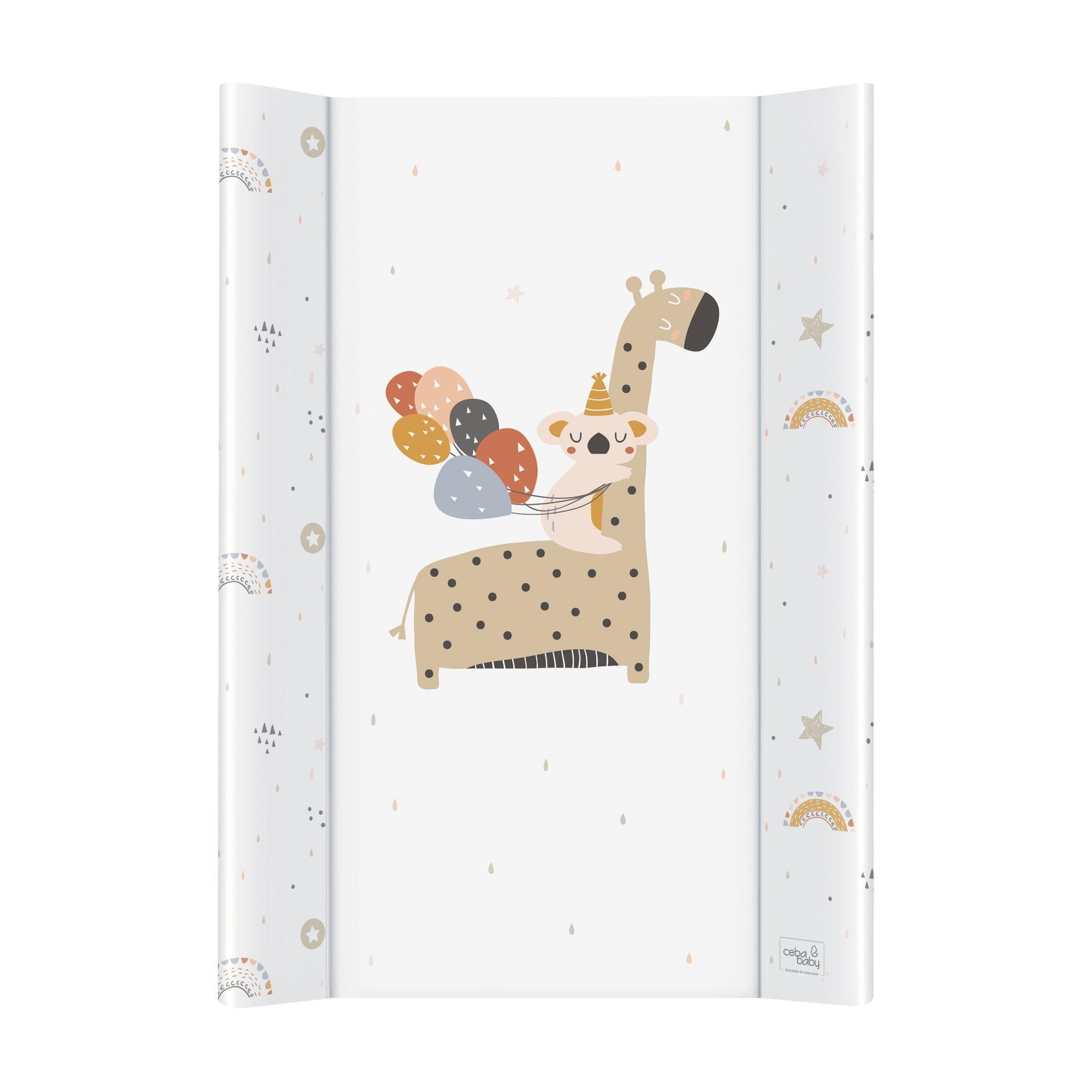 Pøebalovací podložka se zvednutými okraji mìkká 50x70 žirafa