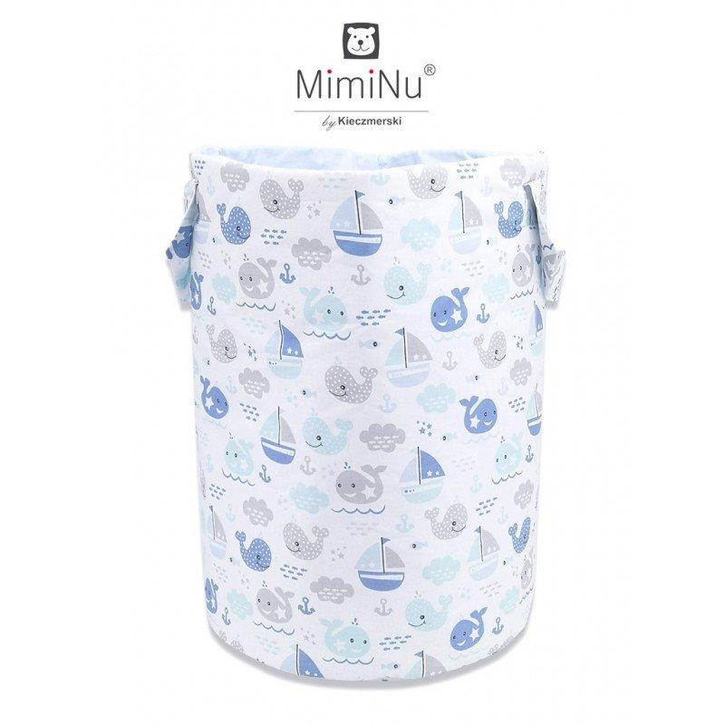 Bavlnìný koš - taška - na hraèky Rybky modré