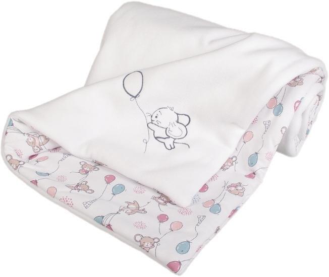Zateplená dìtská deka myšky 70x100 cm bílá