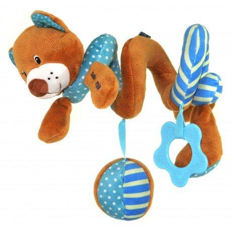 Spirála na postýlku medvídek modrá