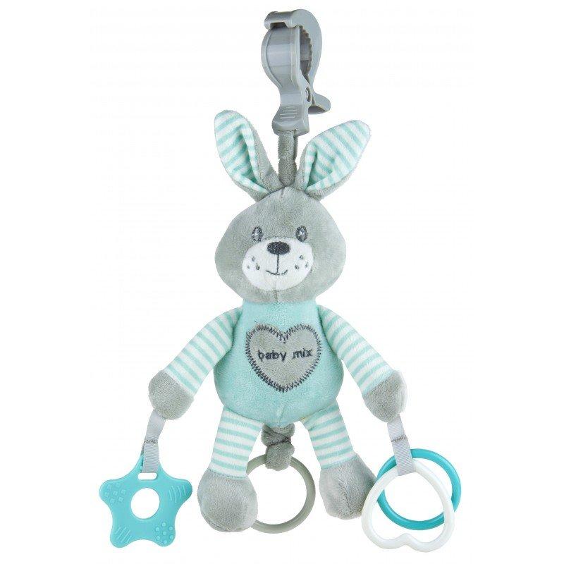 Plyšová hraèka s klipem a vibrací králík mátová