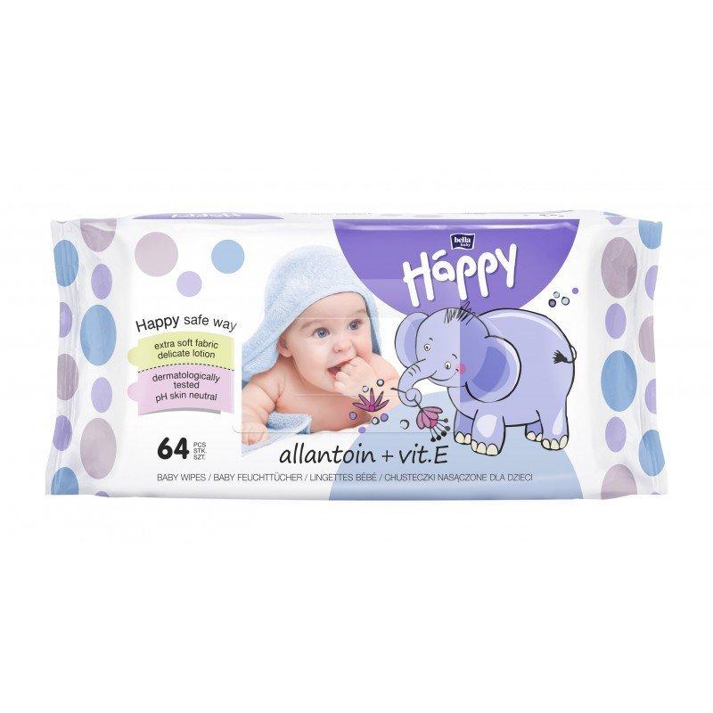 Vlhèené ubrousky Baby Happy s Alantoinem 64 ks