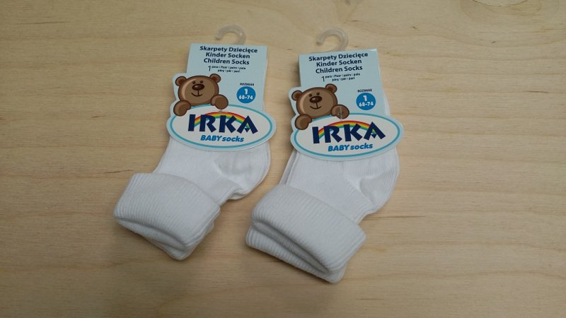 Kojenecké ponožky jednobarevné 68-74