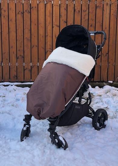 Zimní deka merino nepadací 70x100 cm hnìdá
