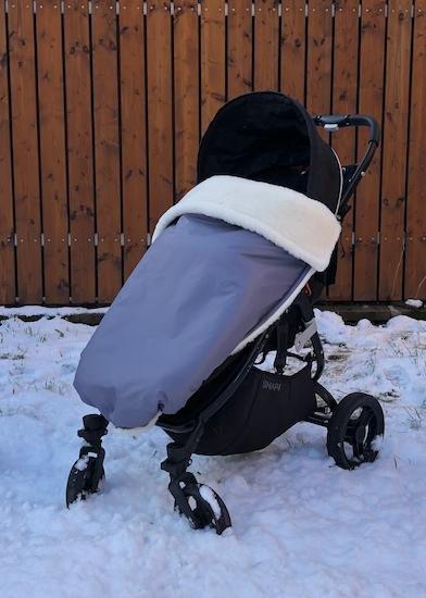 Zimní deka merino nepadací 70x100 cm šedá