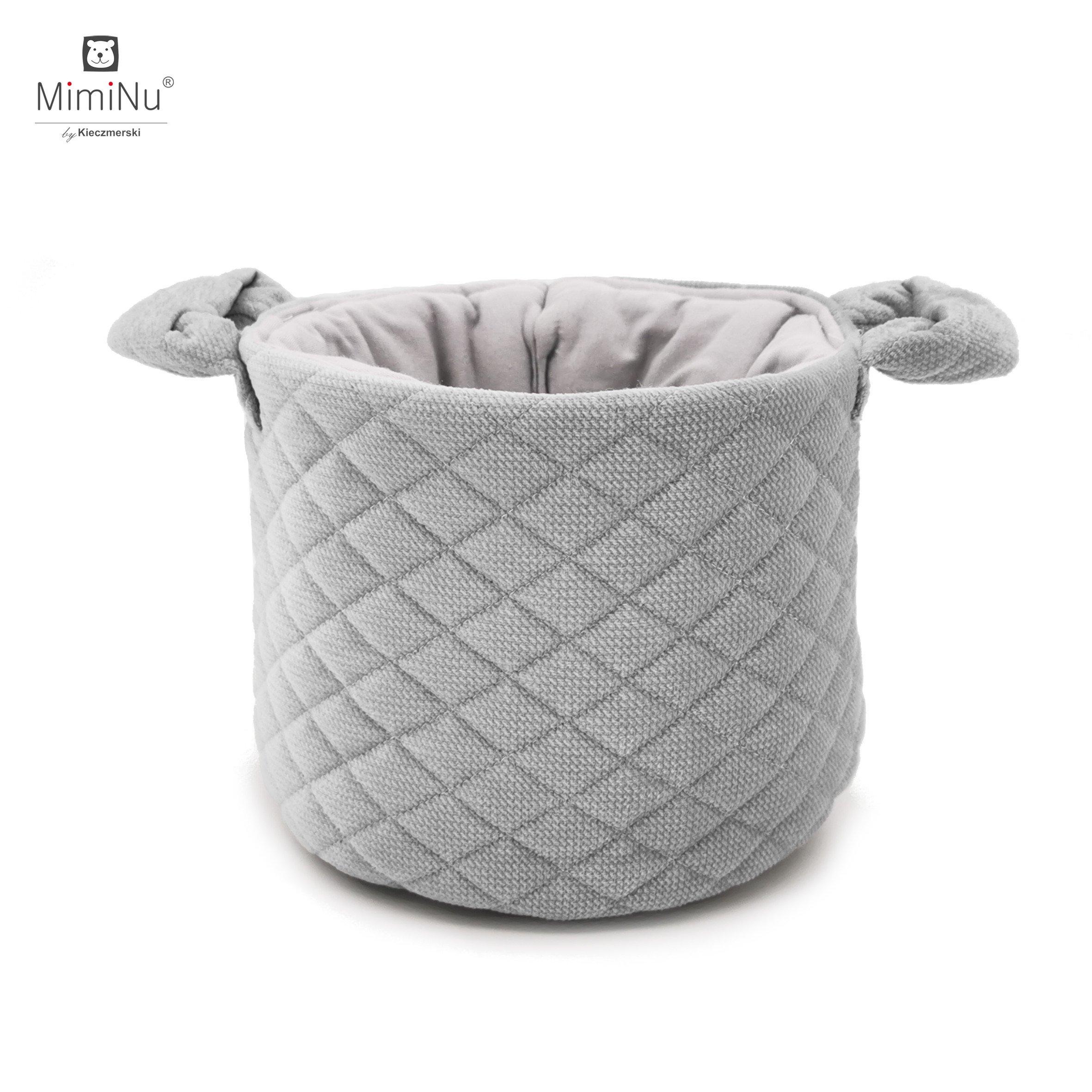 Košík na drobnosti Velvet + bavlna šedá