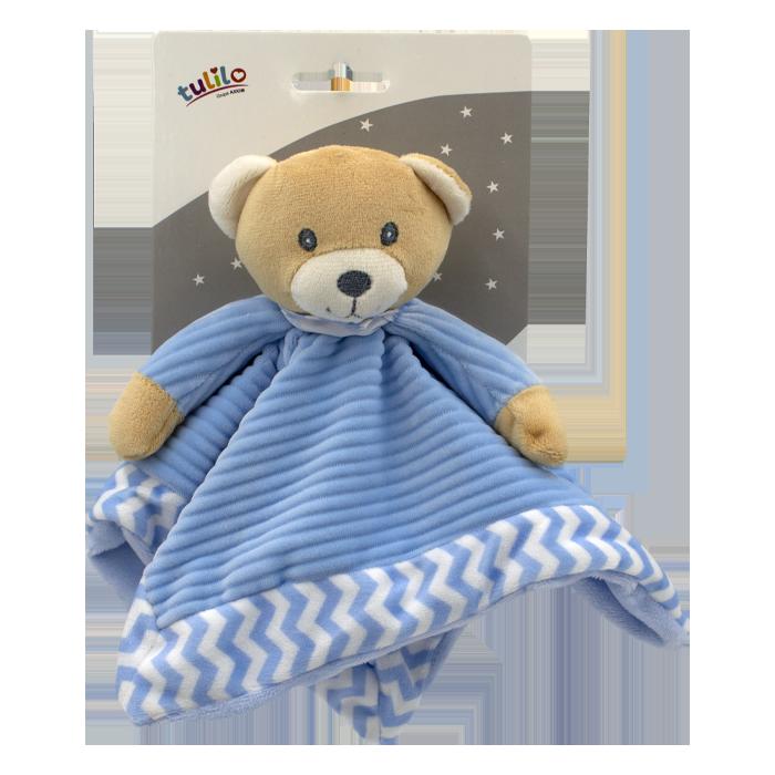 Plyšová hraèka usínáèek medvídek 25cm modrá.Axiom