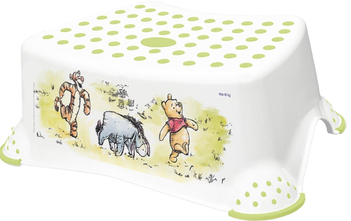 Protiskluzová stolièka Medvídek Pú bílo-zelená