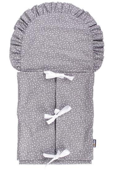 Zavinovaèka do porodnice šedá kytièky - povlak