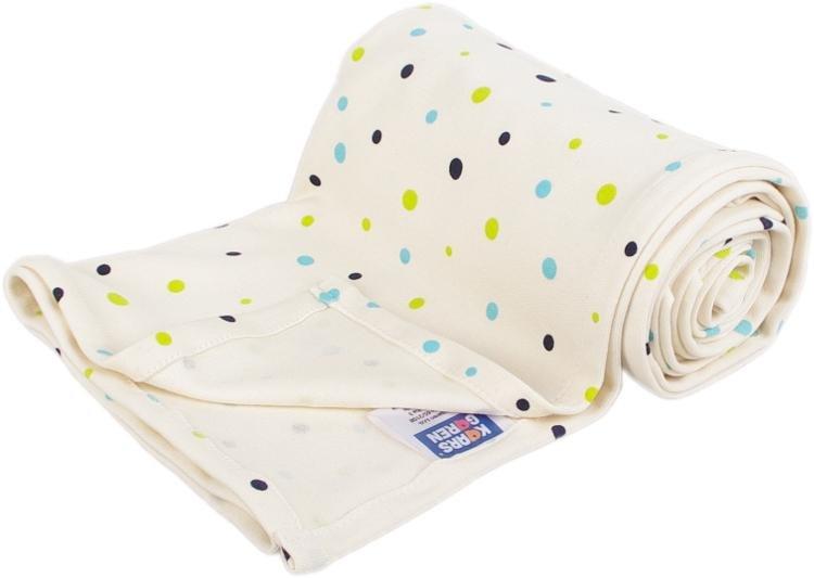 Letní deka z biobavlny 70x100 cm s puntíky bílá