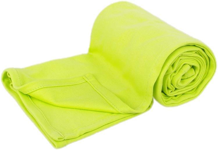 Letní deka 100x150cm z bio-bavlny limetková
