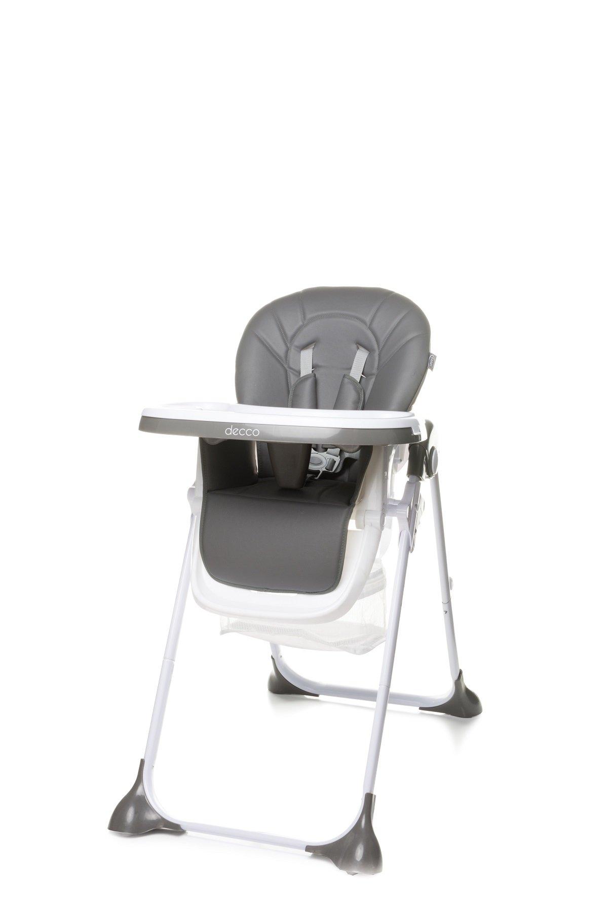 Jídelní židlièka DECCO šedá