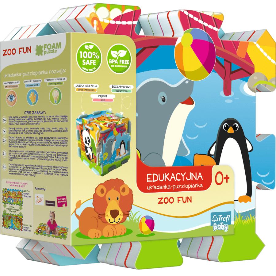 Dìtské pìnové puzzle Zoo Fun 5v1 8 ks
