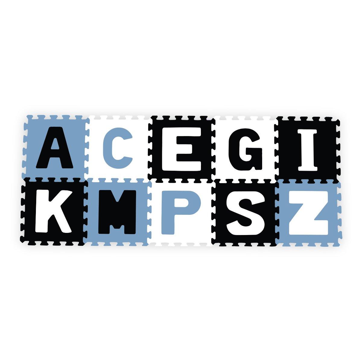 Pìnové puzzle pìnové 30x30 cm 10 ks písmena barevná
