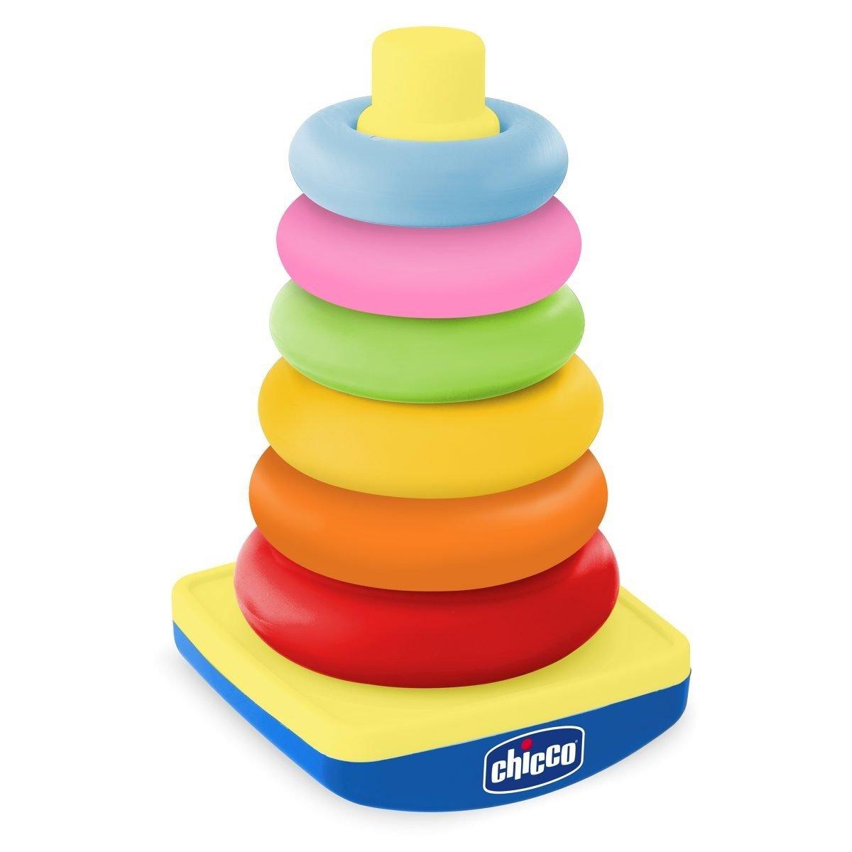 Pyramida z kroužku 20 cm pastelové barvy