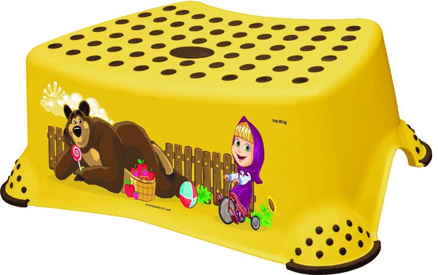 Protiskluzový stupínek stolièka Máša a medvìd žlutá