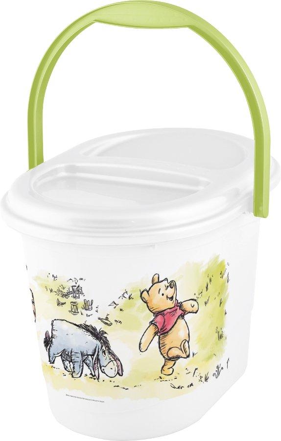 Kyblík na použité plenky Medvídek Pú bílá se zeleným