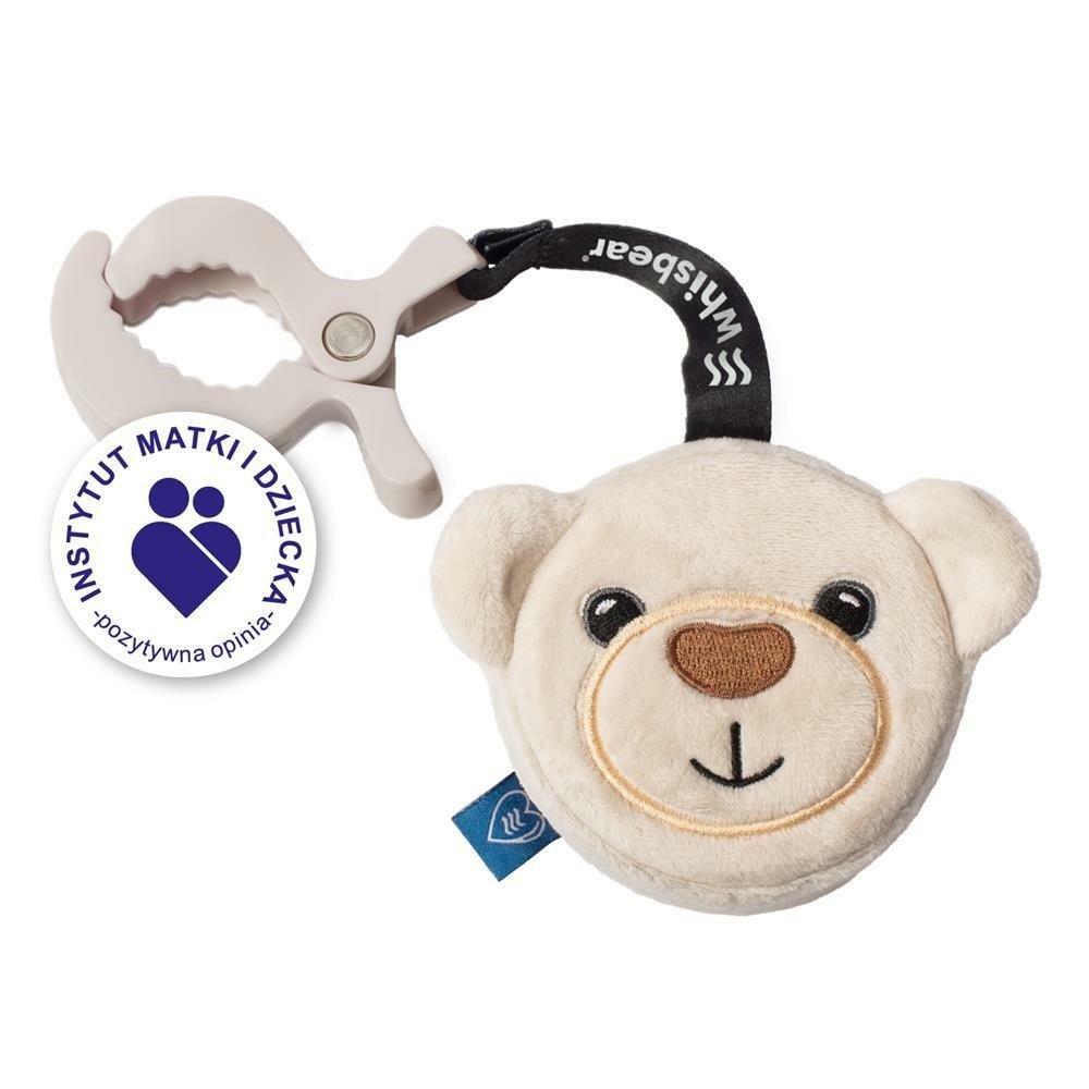Šustící hraèka s klipem medvídek 13 cm bílá