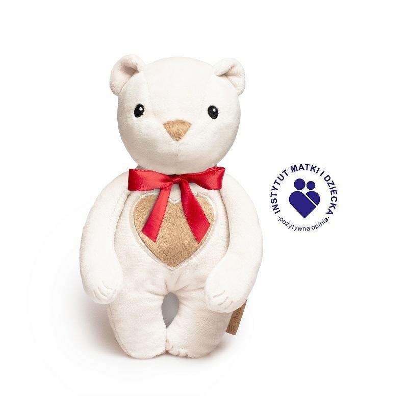 Šustící hraèka medvídek s mašlí bílá