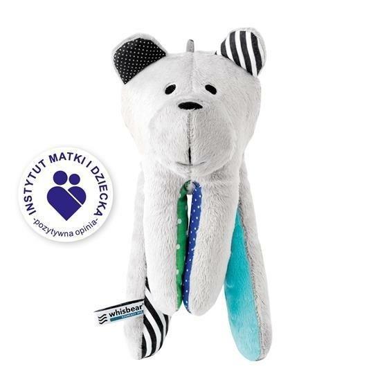 Šustící medvídek s CRY sensor tyrkysová