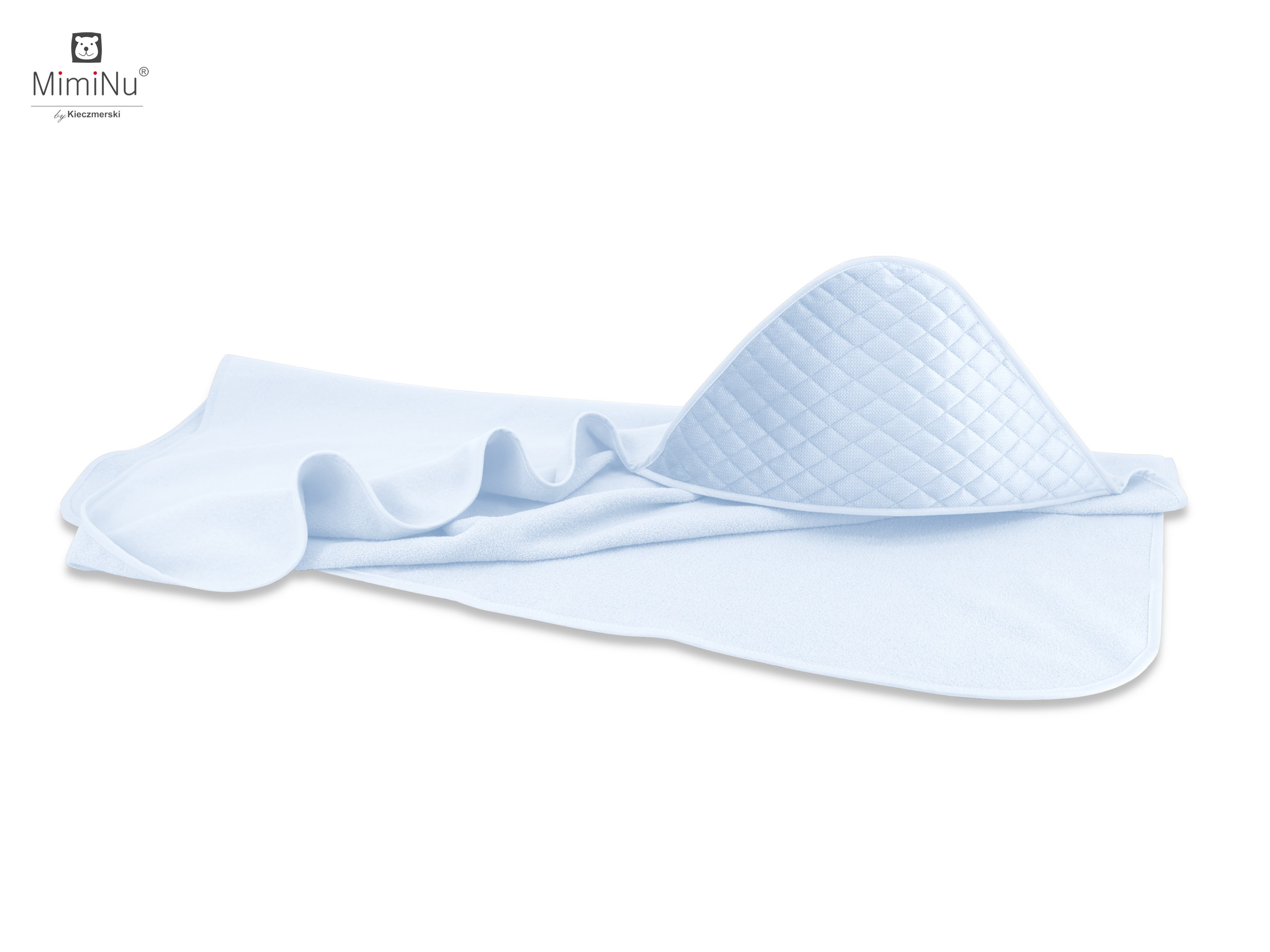 Froté osuška s kapucí 100x100 cm Velvet modrá