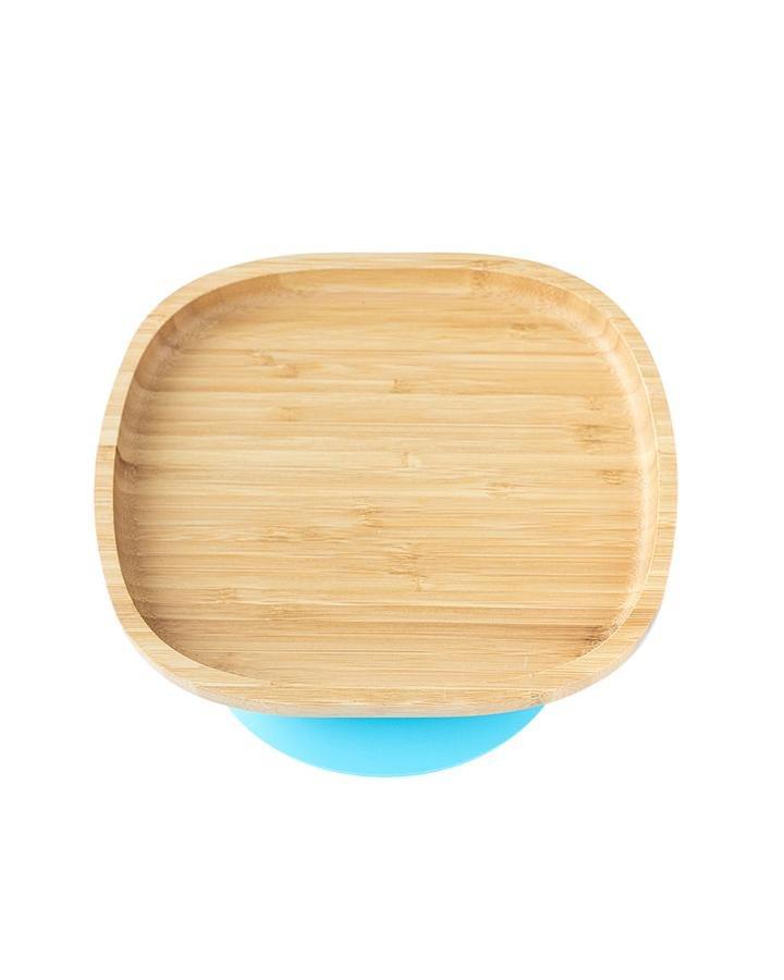 Bambusový talíø s pøísavkou modrý