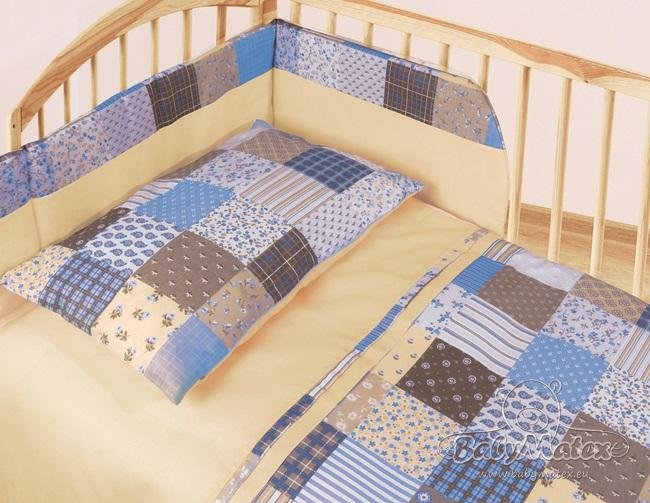 Povleèení patchwork modrý 3 díly blue 2