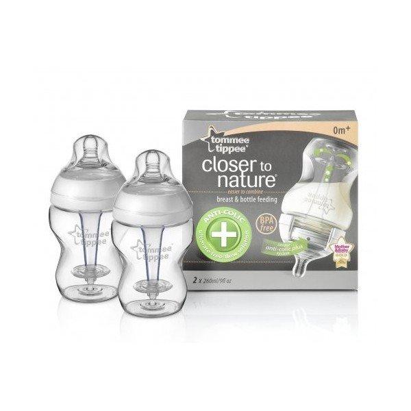 Kojenecká láhev C2N anti-colic 0+ 2x260 ml