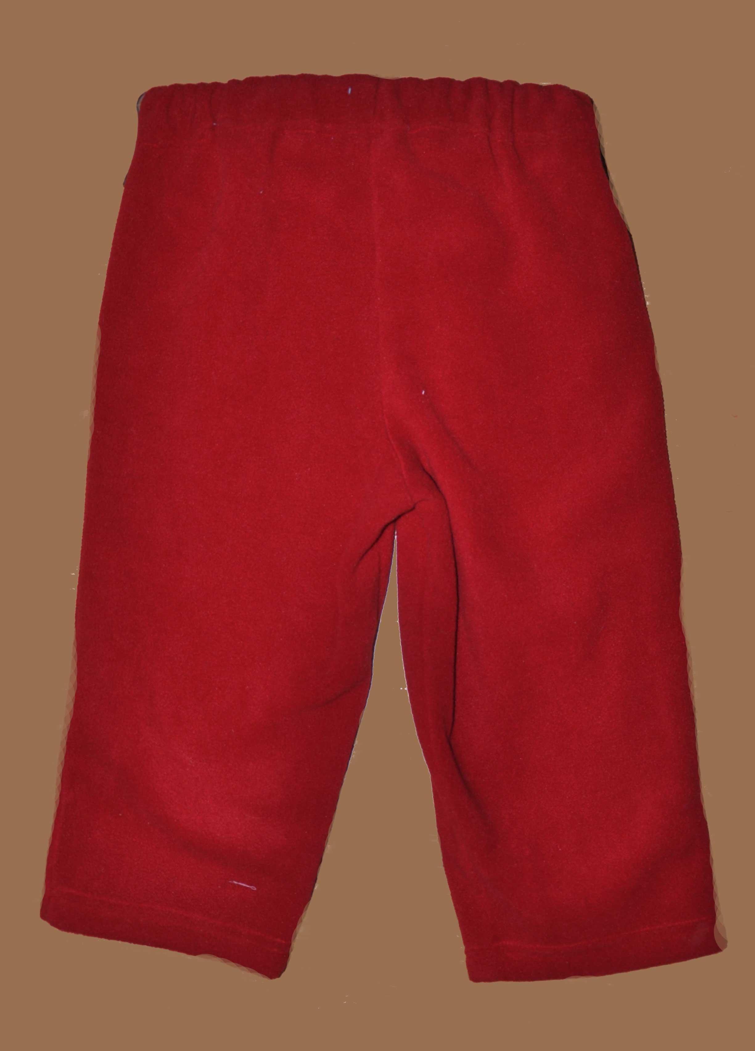 Fleecové kalhoty do pasu vel. 86