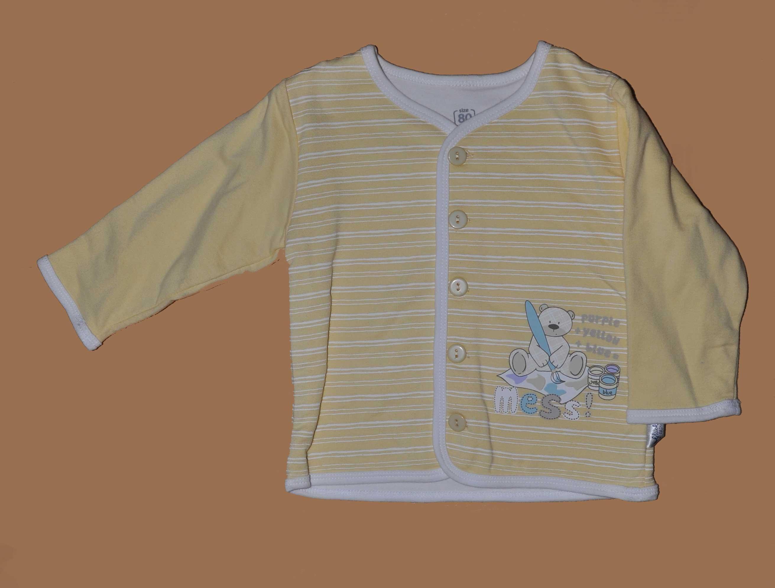 Kabátek s potiskem bavlna vel. 80 žlutá
