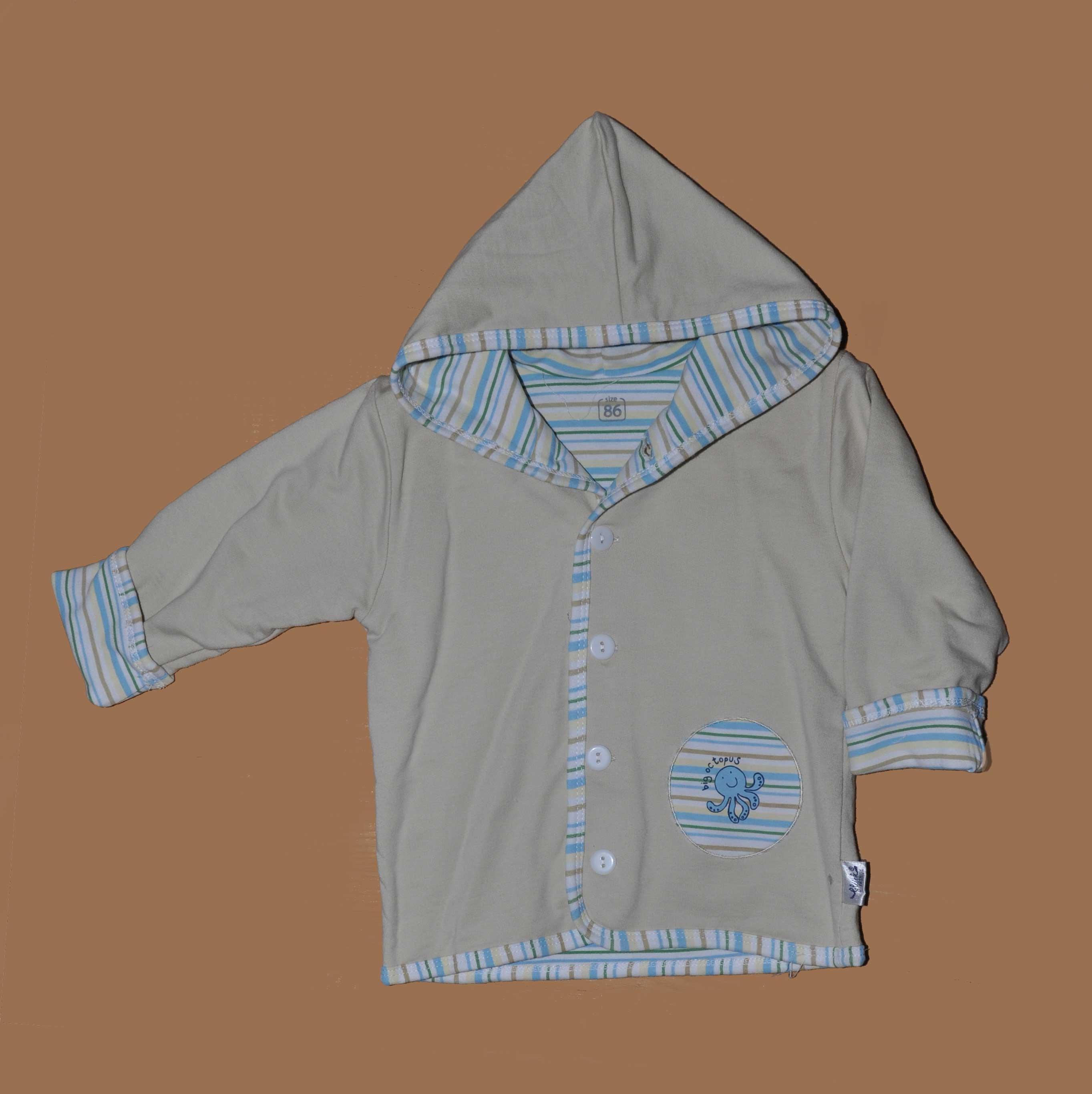 Kojenecký kabátek s kapucí bavlna vel. 74 zelená