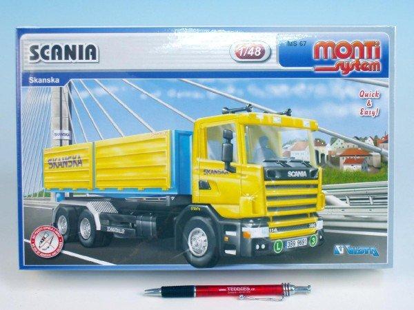 Stavebnice Monti 67 Scania Skanska 1:48 v krabici 32x20