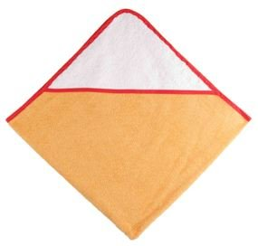 Osuška s kapucí 80x80 cm oranžová