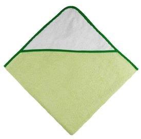Osuška s kapucí 80x80 cm zelená